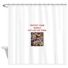 BAGELS2 Shower Curtain