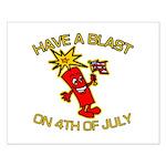 Happy Firecracker Small Poster