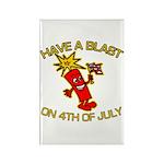 Happy Firecracker Rectangle Magnet (100 pack)