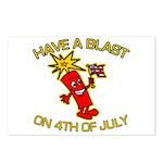 Happy Firecracker Postcards (Package of 8)