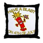 Happy Firecracker Throw Pillow