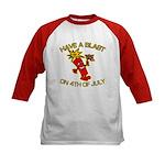 Happy Firecracker Kids Baseball Jersey