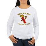 Happy Firecracker Women's Long Sleeve T-Shirt