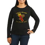 Happy Firecracker Women's Long Sleeve Dark T-Shirt