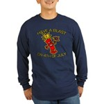 Happy Firecracker Long Sleeve Dark T-Shirt