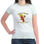 Happy Firecracker Jr. Ringer T-Shirt