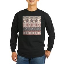 Native Pattern Long Sleeve T-Shirt