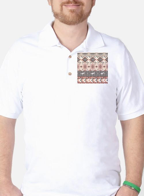 Native Pattern Golf Shirt