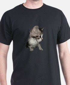 Snake The Tailless Kitten Gets Painted T-Shirt