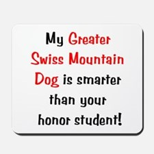 My Greater Swiss Mt. Dog is smarter... Mousepad