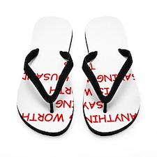 jewish wisdom Flip Flops
