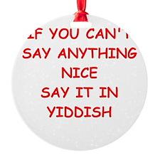YIDDISH Ornament