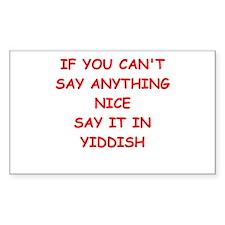 YIDDISH Decal