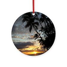 Hawaiian Sunset Round Ornament