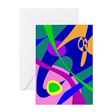 Philosophical Man Digital Abstract Pattern Greetin