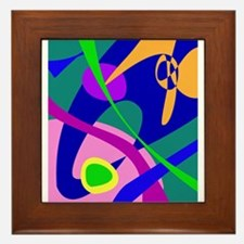 Philosophical Man Digital Abstract Pattern Framed