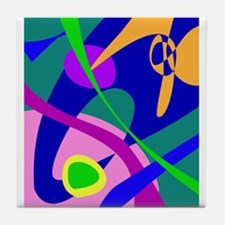 Philosophical Man Digital Abstract Pattern Tile Co
