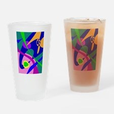 Philosophical Man Digital Abstract Pattern Drinkin