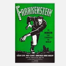 Vintage Frankenstein Film Postcards (package Of 8)