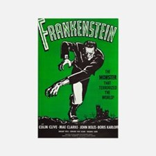 Vintage Frankenstein Film Poster Rectangle Magnets