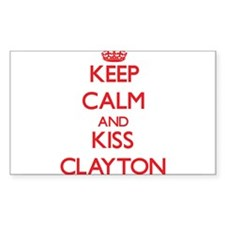 Keep Calm and Kiss Clayton Decal