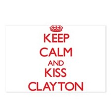 Keep Calm and Kiss Clayton Postcards (Package of 8