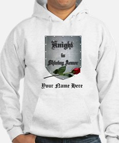 Knight In Shining Armor Rose Hoodie