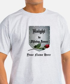 Knight In Shining Armor Rose Personalize T-Shirt