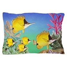 Long-nosed Butterfly Fish Pillow Case