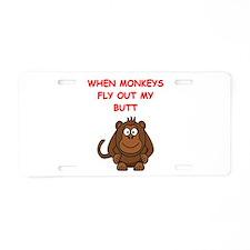 monkeys Aluminum License Plate