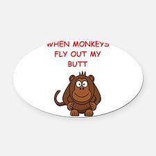 monkeys Oval Car Magnet