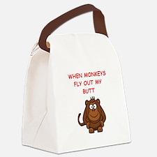 monkeys Canvas Lunch Bag