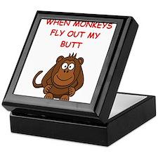 monkeys Keepsake Box