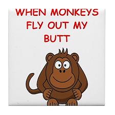 monkeys Tile Coaster