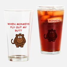 monkeys Drinking Glass