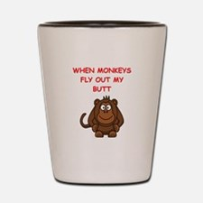 monkeys Shot Glass