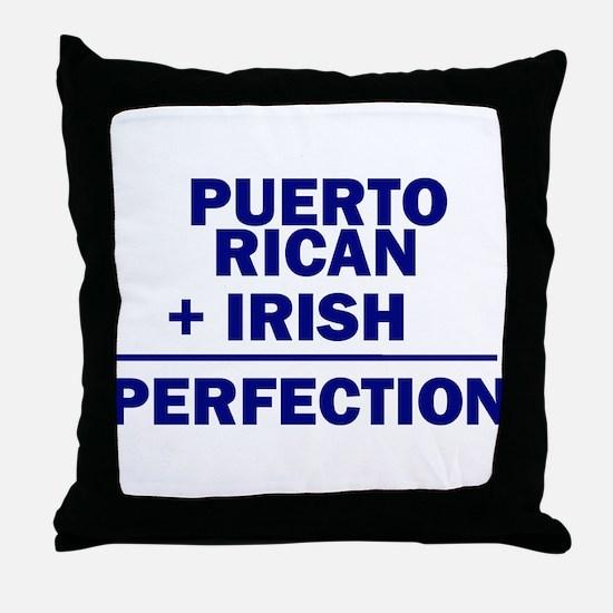Puerto Rican + Irish Throw Pillow