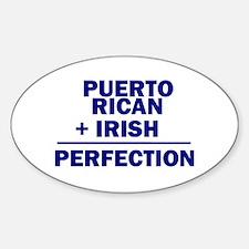 Puerto Rican + Irish Oval Decal