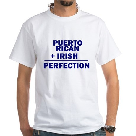 Puerto Rican + Irish White T-Shirt