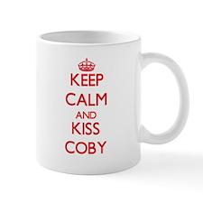 Keep Calm and Kiss Coby Mugs