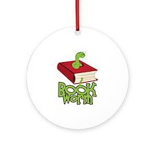 BookWorm Ornament (Round)