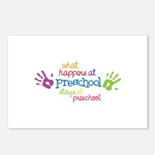 What Happens At Preschool Days Postcards (Package
