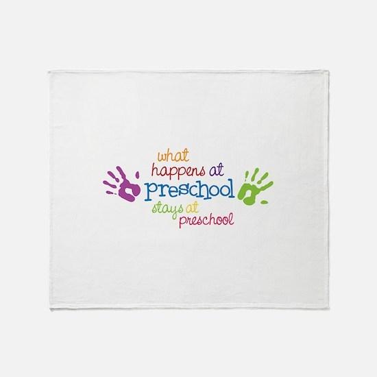 What Happens At Preschool Days Throw Blanket