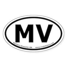Martha's Vineyard Oval Car Decal