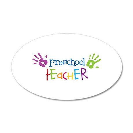 Preschool Teacher Wall Decal by Embroidery4