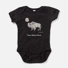 White Buffalo Full Moon Personalize Baby Bodysuit