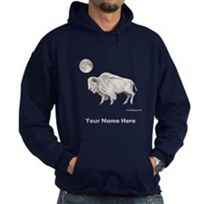 White Buffalo Full Moon Personalize Hoodie