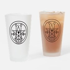 TILE Astaroth Seal - White BG.png Drinking Glass