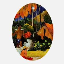 Gauguin - Mahana Maa, II Oval Ornament