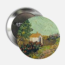 """Van Goghs Landscape 2.25"""" Button"""